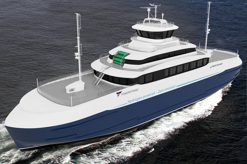 Project of hydrogen-powered ferry in Norway (Courtesy of Fiskerstrand)